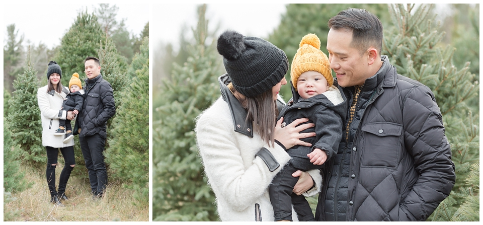 The Ho Family – Winter Family Photography – Horton Tree Farms Family Photos
